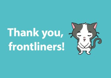 Thank you, frontliners!